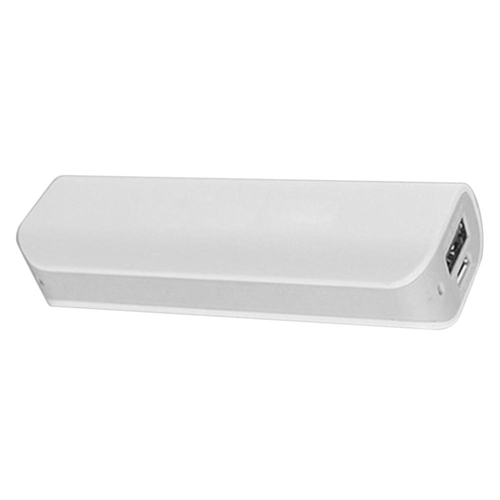 Carcasa de batería portátil gris con puerto USB para soldar gratis, carcasa para cargador de PCB, Kits DIY con batería de 2600mAh y 18650