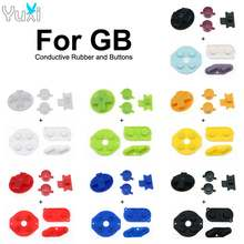 Yuxi Groen Geel Rood Blauw Zwart Wit Geleidende Rubber Een B D-Pad Diy Knoppen Voor Gameboy Classic Voor gb Dmg Reparatie Onderdelen