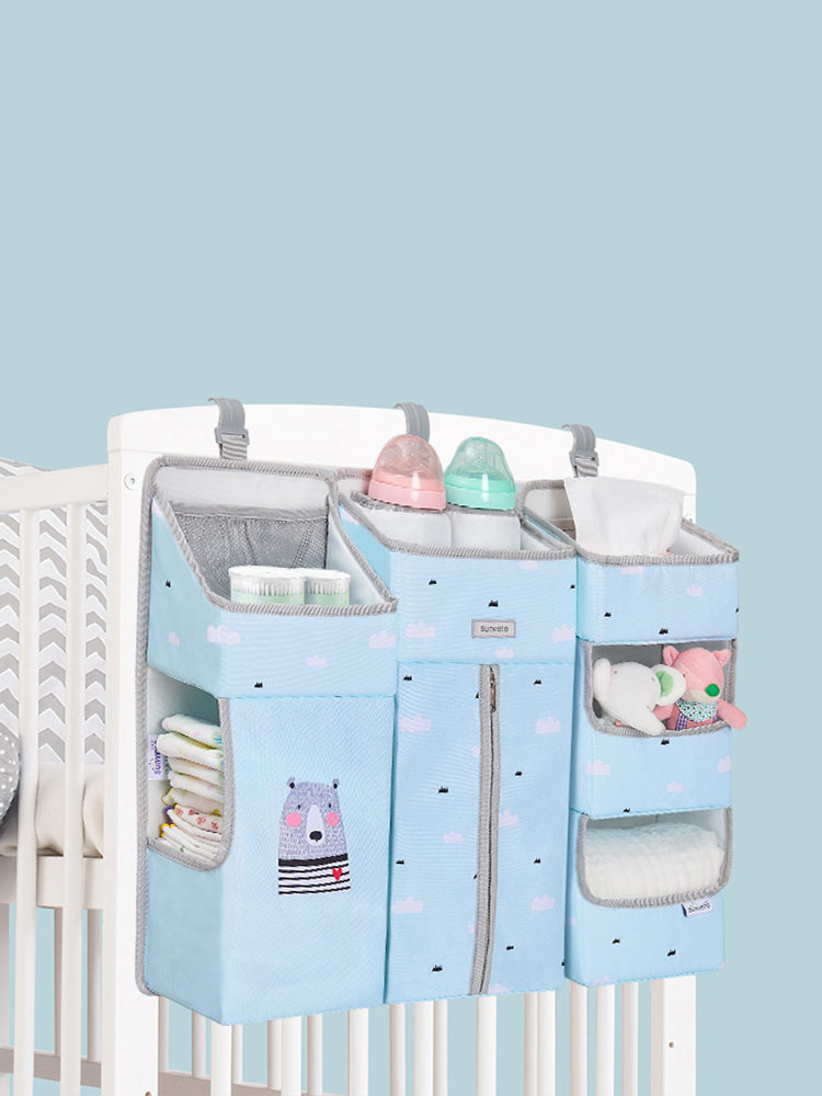 Sunveno Storage-Organizer Bedding-Set Crib Hanging Baby Essentials