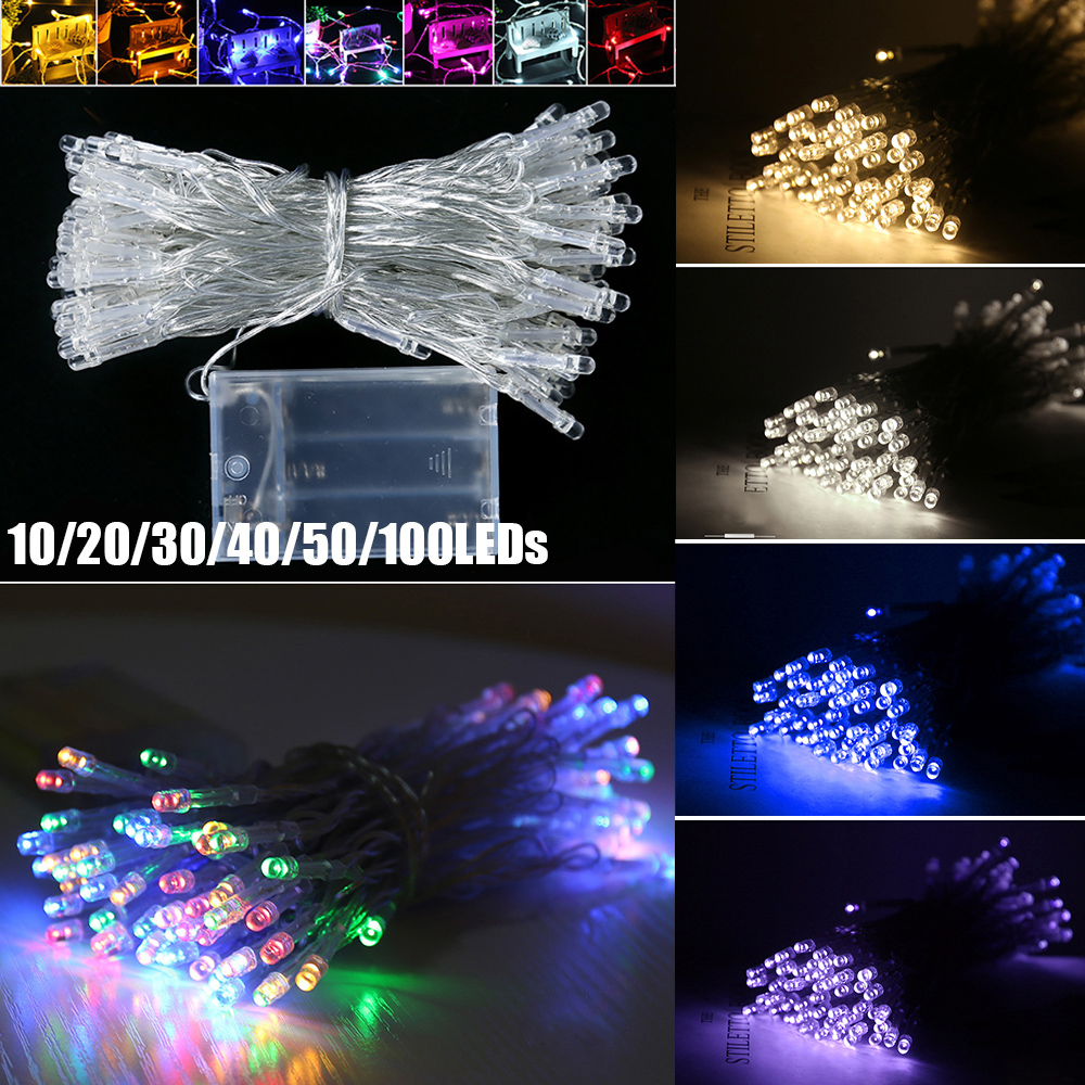 1M-10M LED String <font><b>Light</b></font> Battery Operated LED String <font><b>Lights</b></font> Christmas <font><b>Lights</b></font> <font><b>Home</b></font> LED <font><b>Lights</b></font> <font><b>Decoration</b></font> Waterproof Fairy <font><b>Lights</b></font> image
