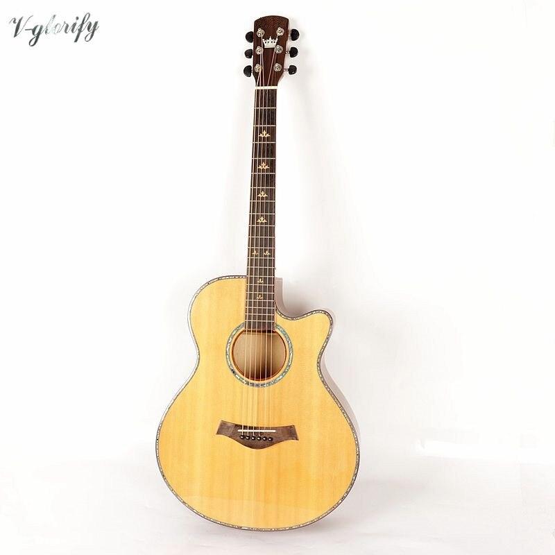 Habillage celluloïd guitare acoustique simple en épicéa 40 pouces livraison gratuite