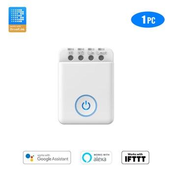 BroadLink Bestcon MCB1 Wifi Light Switch Smart Automation Module Works with Google Home and Alexa broadlink tc2 wifi switch touch panel us au standard wall light switch app control via broadlink rm pro smart home automation