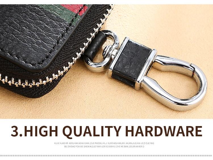 Brand Car KeyChain Bag First Layer Cowhide Keys Wallet Case Men Key Housekeeper Pouch RFID Blocking Women Key Holder 2019 New