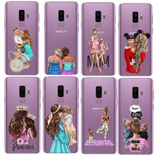Super Mommy Baby Girl Cover TPU soft silicone phone case for Samsung Ga