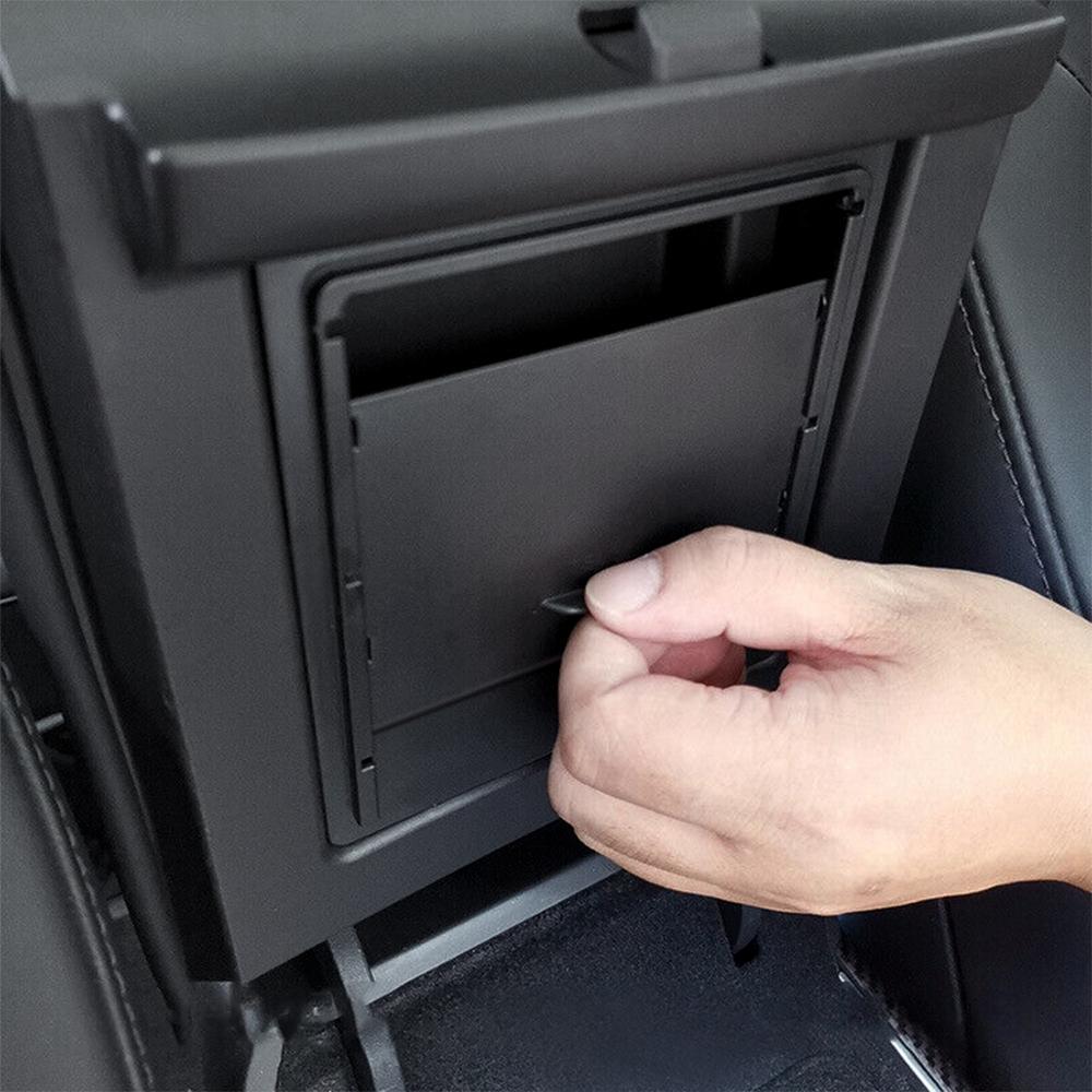Accessoires de voiture Pour Tesla Modèle 3 D'accoudoir Automatique Boîte De Rangement Organisateur Conteneurs Transparent Cachée boîte de support 2017 2018 2019
