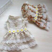 Одежда для домашних животных Милая Кружевная юбка с принтом