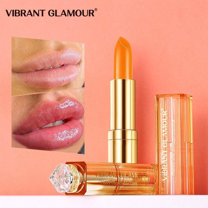 Honey Moisturizing Lipstick Waterproof Long Lasting Moisture Color Changing Lipstick Lasting Lips Makeup Lip Care