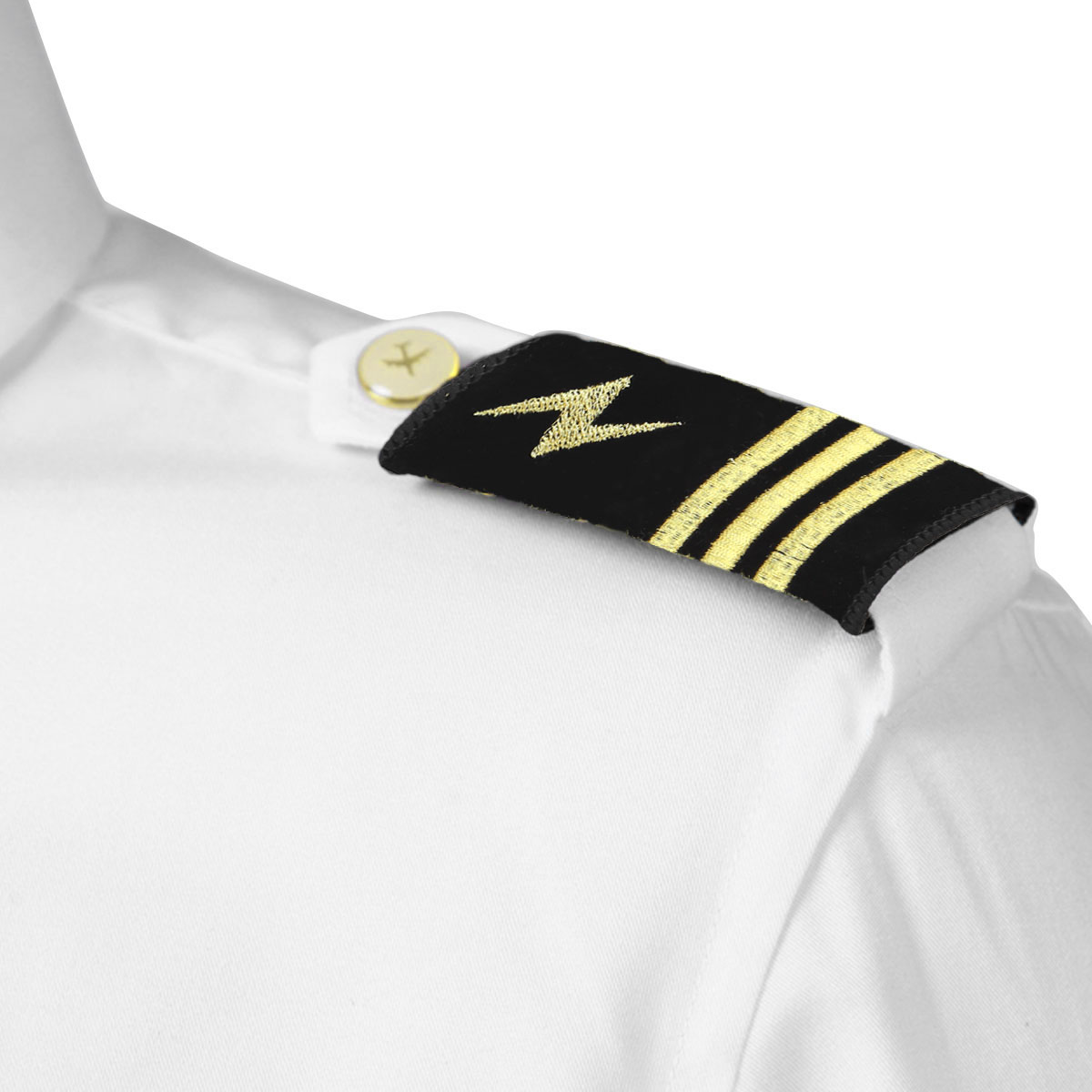New Black Police Security Button On Shirt Epaulettes Epaulette Collar Numbers