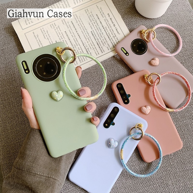 Bling Wrist Band Ring Silicone Soft Phone Case For Samsung Galaxy A5 A6 A7 A8 A70 A750 A8S Plus A51 A71 A01 A11 A21 A81 A91