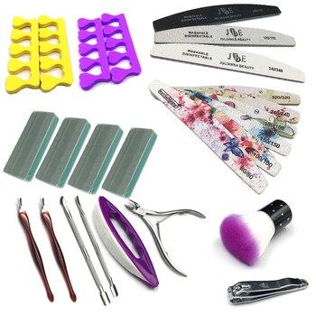 18-23Pcs Nail Sanding File Buffer Block Pedicure Nail Buffing Strips UV Gel Polish Beauty Tools Professional Nail Files 1