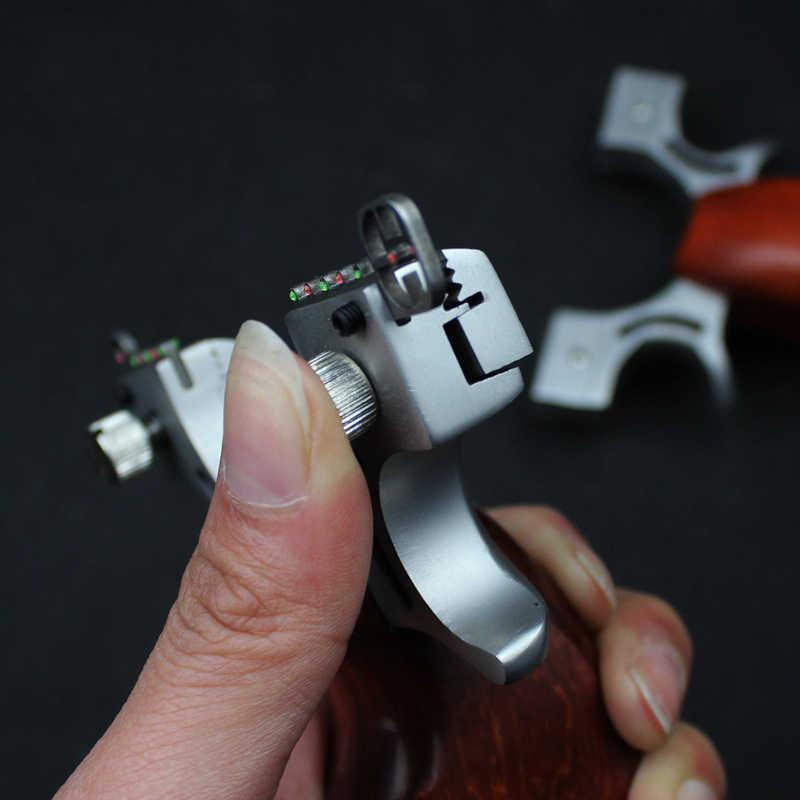 고무 밴드 야외 촬영 경쟁 게임 슬링 샷과 스테인레스 스틸 slingshot 사냥