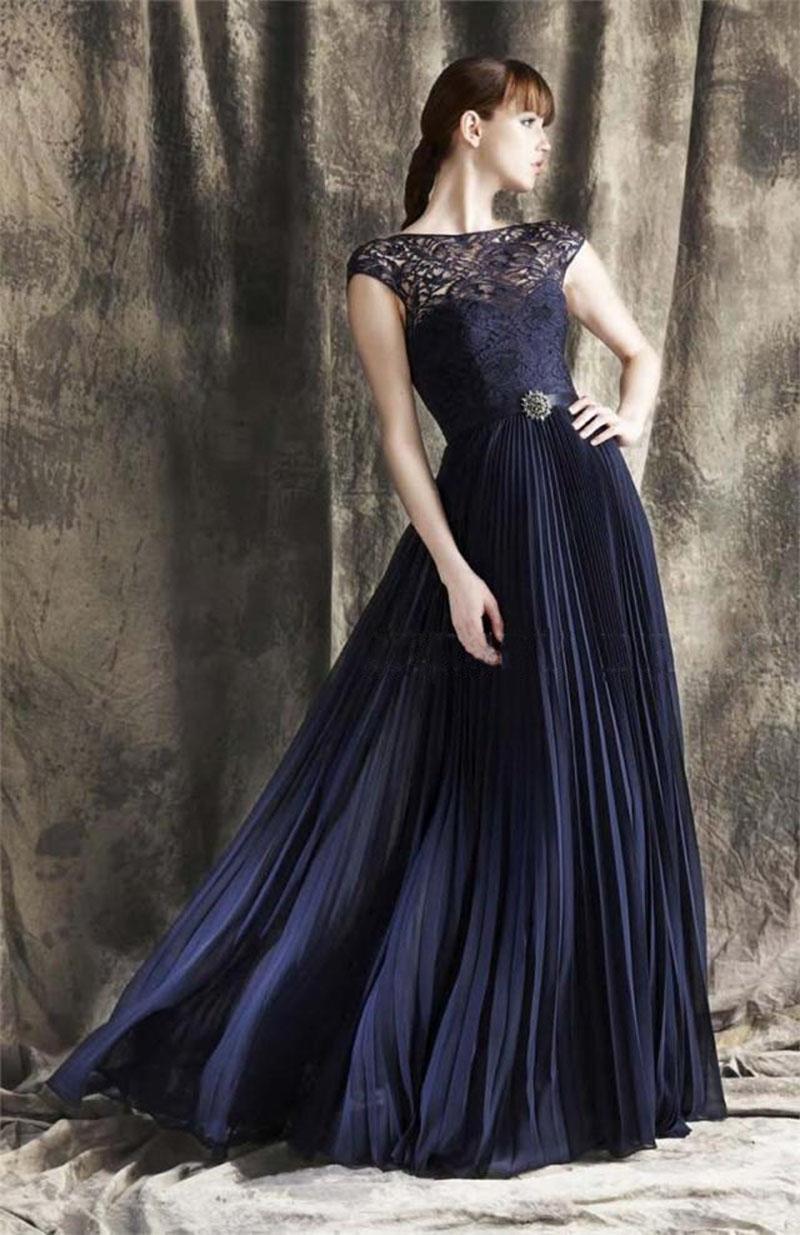 5935 50 De Descuentotraje De Noche De Encaje De Chifón Ajustado Plisado Vestido De Noche Vestido Formal Mujeres Elegantes Vestidos De Noche Largos