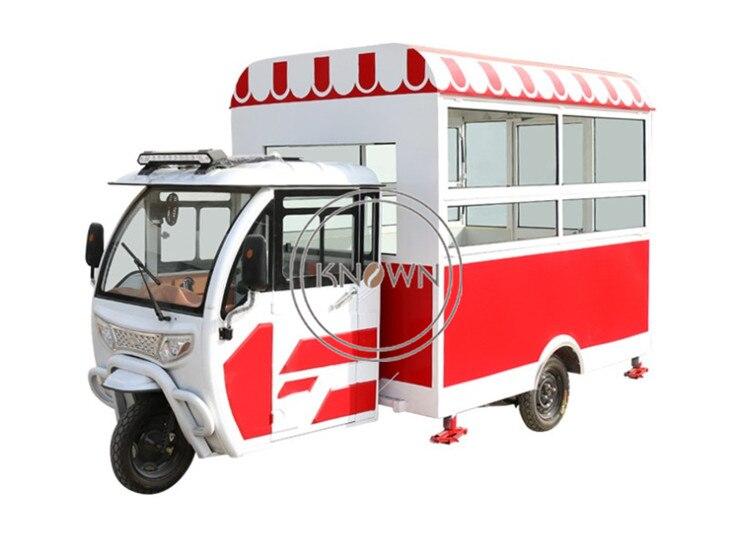 2019 Hot Selling Three Wheels Electric Mobile Ice Cream Food Cart Hotdog Street Fast Food Vending Truck