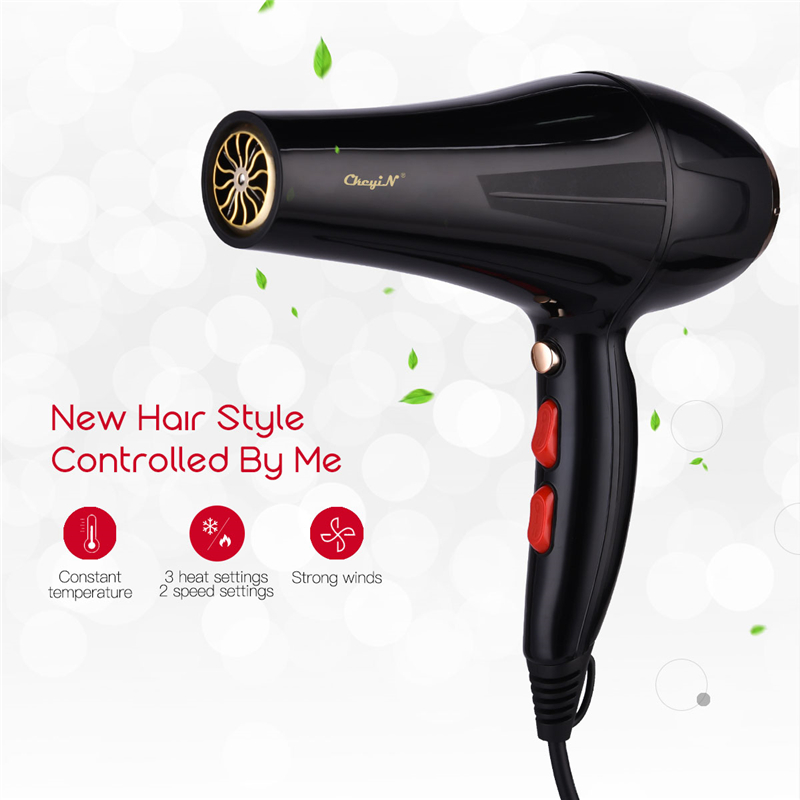 5000W Professional Hair Dryer With Nozzle Super Power Hair Salon Styling Tools Hair Drier Hot Cold Air Speed Adjust Hair Blower