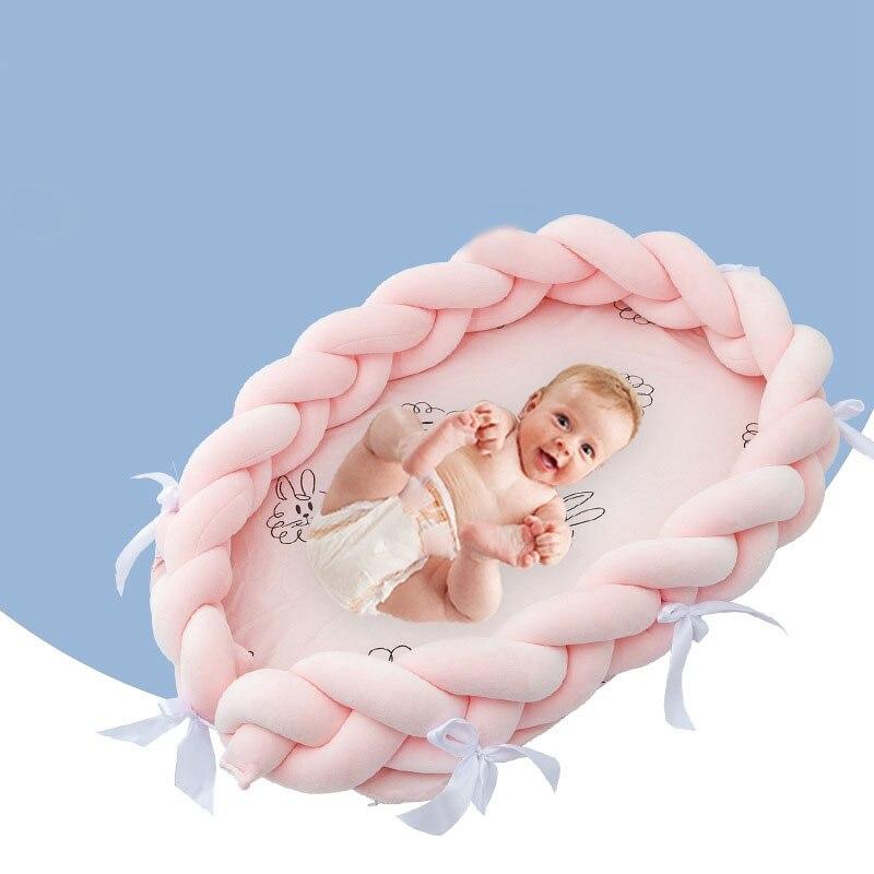 Bébé nid imprimer coton Bionic lit berceau lit noué pare-chocs coton détachable à la main tricot bébé enfants Portable lit de voyage