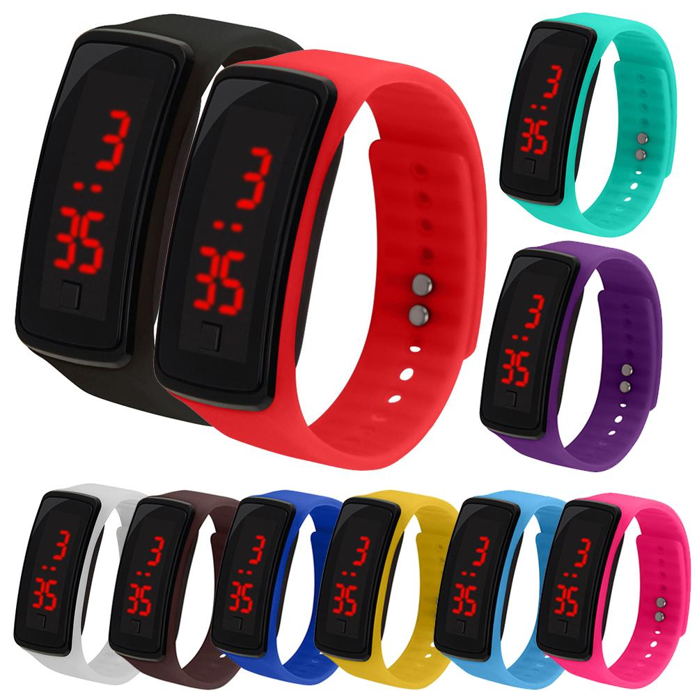 Kids Silicone Adjustable Band LED Screen Electronic Digital Wrist Watch Bracelet Silicone Wrist Watch For Children Kids