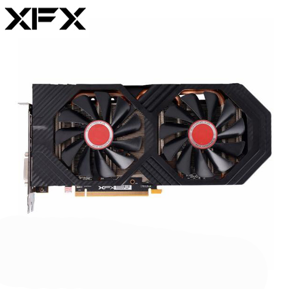 XFX Radeon  RX580 4GB DDR5 AMD Graphics Cards GPU RX 580 4GB PC Gaming Video Card Desktop Gamer Video Card Used Radeon Cards