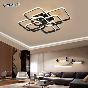 Image 3 - Kare daire yüzük tavan ışıkları oturma odası yatak odası için ev Modern Led tavan lambası fikstür parlaklık plafonnier dropshipping