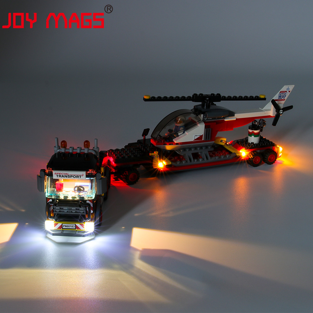 JOY MAGS Only Led Light Kit For CITY Series Heavy Cargo Transport Lighting Set Compatible With 60183 (NOT Include Model)