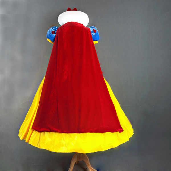 Branca de neve Vestido Cosplay Halloween Para As Mulheres Adulto Fantasia de Carnaval Festa de Conto De Fadas Da Princesa de Contos de fadas Cosplay Fancy Dress