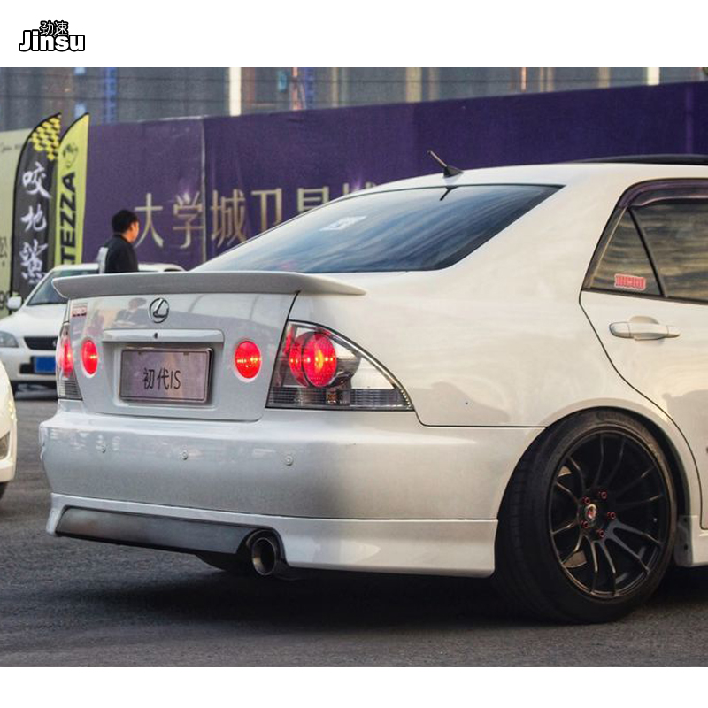 TRD style Fiber glass rear trunk lip For <font><b>LEXUS</b></font> IS IS200 <font><b>IS300</b></font> 1998 - 2004 FRP spoiler wing For Toyota <font><b>Altezza</b></font> AS200 AS300 RS200 image