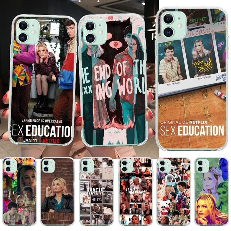 NBDRUICAI British comedy <font><b>Sex</b></font> Education DIY Luxury Phone <font><b>Case</b></font> for <font><b>iPhone</b></font> 11 pro XS MAX 8 <font><b>7</b></font> 6 6S <font><b>Plus</b></font> X 5S SE XR cover image