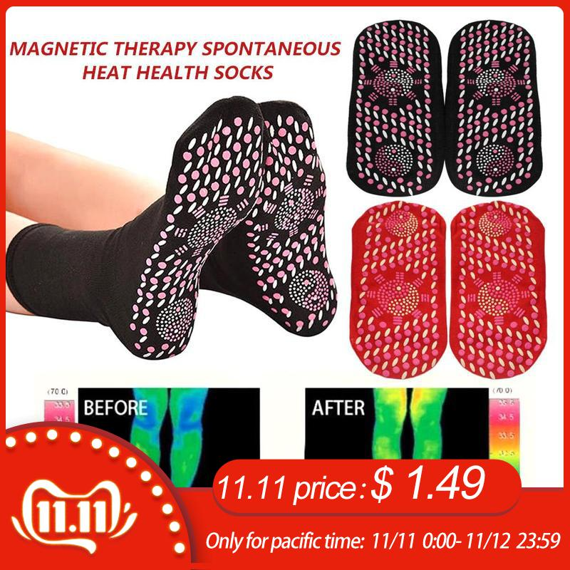 New Magnetic Socks Therapy Comfortable Self-Heating Health Care Socks Tourmaline Breathable Massager Winter Warm Foot Care Socks