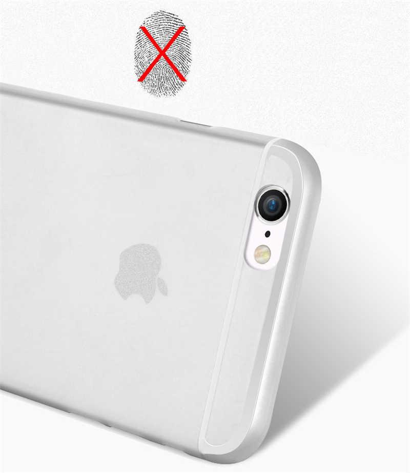 رقيقة جدا ماتي شفافة PP الهاتف خزائن هاتف آيفون 6 6S 7 8 Plus XR X XS 11 برو ماكس حافظة فاخرة 0.3 مللي متر الهاتف حقيبة