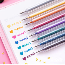 8 цветов/набор блестящая ручка хайлайтер изменение цвета вспышка