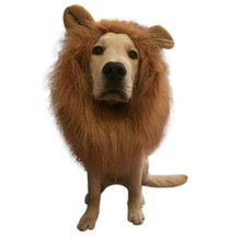 Pet Costume Dog Lion Wigs with ears Mane Hair pet lion hair accessories Festival Party Fancy Halloween