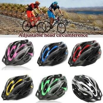 Capacetes ajustáveis de bicicleta, capacetes de ciclismo preto fosco para homens e mulheres, mountain bike e de estrada, totalmente moldados em 6 cores 1