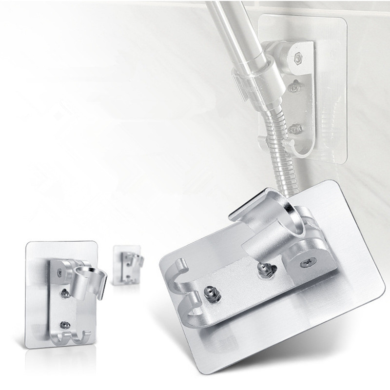 Wall Gel Mounted Shower Head Stand Bracket Holder Hand Held Bathroom Shower Head Fitting Portable Bathroom Accessories