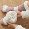 Плотные теплые носки для сна; Носки-тапочки; Плотные повседневные Нескользящие теплые зимние носки средней длины в полоску с принтом для же...