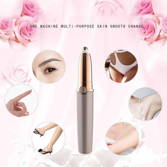 Electric Eyebrow Trimmer Makeup Painless Eye Brow Epilator For Women Mini Shaver Razors Portable Facial Hair Remover Female 2