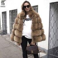 Manoswe New Women Faux Fox Fur Coat Faux Fur Fabric Winter Thick Warm Jacket Fashion Casual Outerwear Coat Large Size 4xl