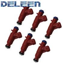 Deleen conjunto 6 oem injector de combustível 0280156109 para chrysler mercedes-benz c240 2.6 acessórios do carro