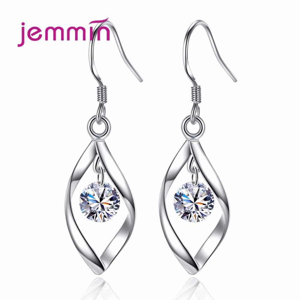 חמוד מתנות לנשים אוהבי יוקרה 925 סטרלינג כסף לסובב את אהבת סגנון רומנטי קוריאה וו עגילי Femme תכשיטים