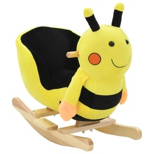 Car Rocking-Chair Animal-Bumblebee Horse with Backrest Plush Baby Trojan
