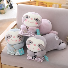 50cm/70cm New Soft Plush Toy Sloth kneel Cute Stuffed Pillow Forest Animals Toys For Children Kids Birthday Gift