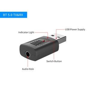 Image 3 - USB Bluetooth 5.0 adaptateur 3.5mm AUX BT Audio récepteur émetteur sans fil Dongle pour voiture TV haut parleur 4 en 1 adaptateur Bluetooth