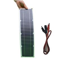 solar panel 10w kit Transparent semi-flexible Mono cell DIY module outdoor connector DC 12v charger