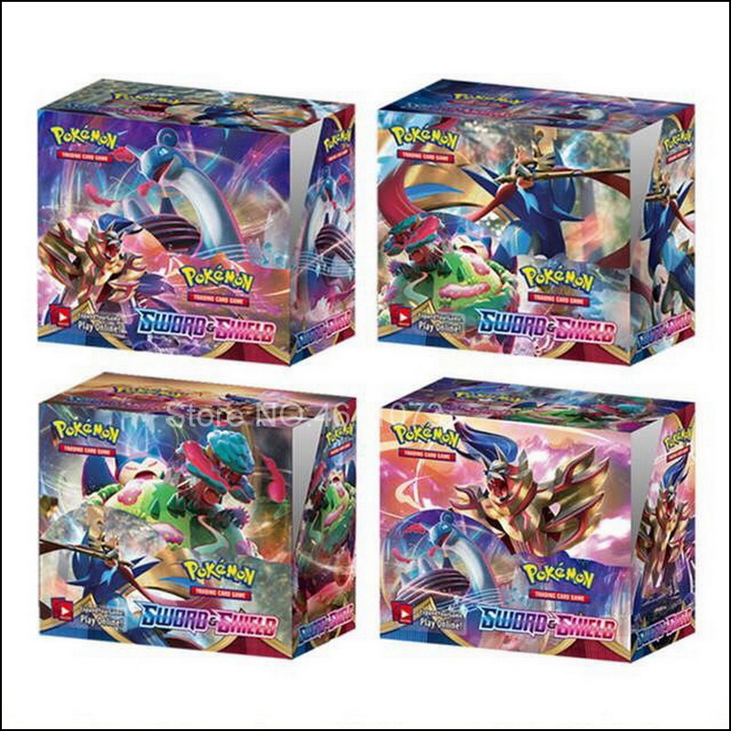 2020 Latest 324Pcs Pokemon Sword   Shield English Cards Trade Game Card Collection Toys