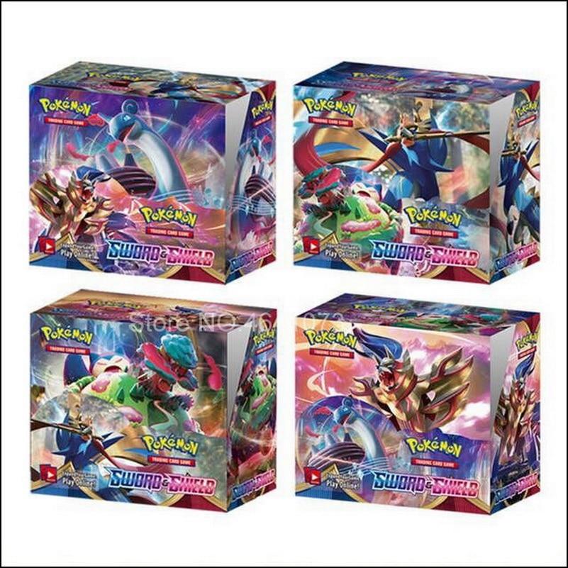 2020 mais recente 324 pçs pokemon espada & escudo rebel clash inglês cartões de jogo comércio coleção brinquedos