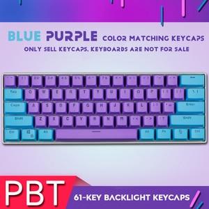 Image 2 - 61 Key PBT Backlight DIY Two Color Mechanical Keyboard Keycap For GH60 / RK61 / ALT61 / Annie / Poker Keyboard keycaps