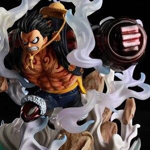 Image 3 - انمي ياباني قطعة واحدة الشكل قطعة واحدة لوفي تمثال بولي كلوريد الفينيل ألعاب شخصيات الحركة GK لوفي الشكل الديكور نموذج لعب طفل هدية