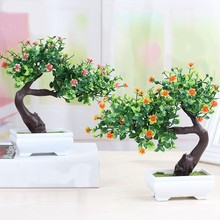 1 PC Simulated Plant Bonsai Small Tree Decoration Pinus Massoniana Green Artificial Flower Hot