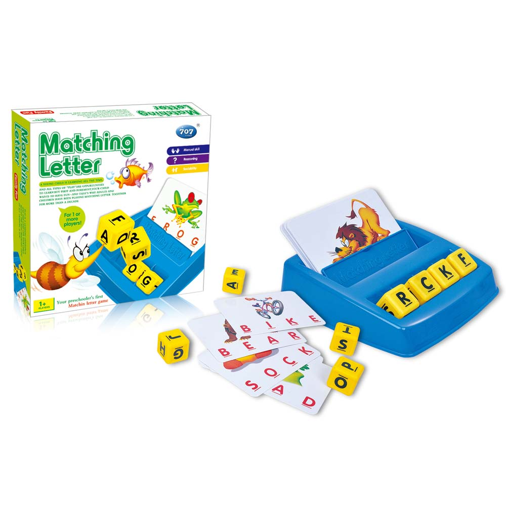 RetroFun Letter Matching Spell Word Game,Toddler Toys Matching Letter Game Learning Activities Toys Educational Christmas Xmas Gifts for 3-8 Year Old Kids