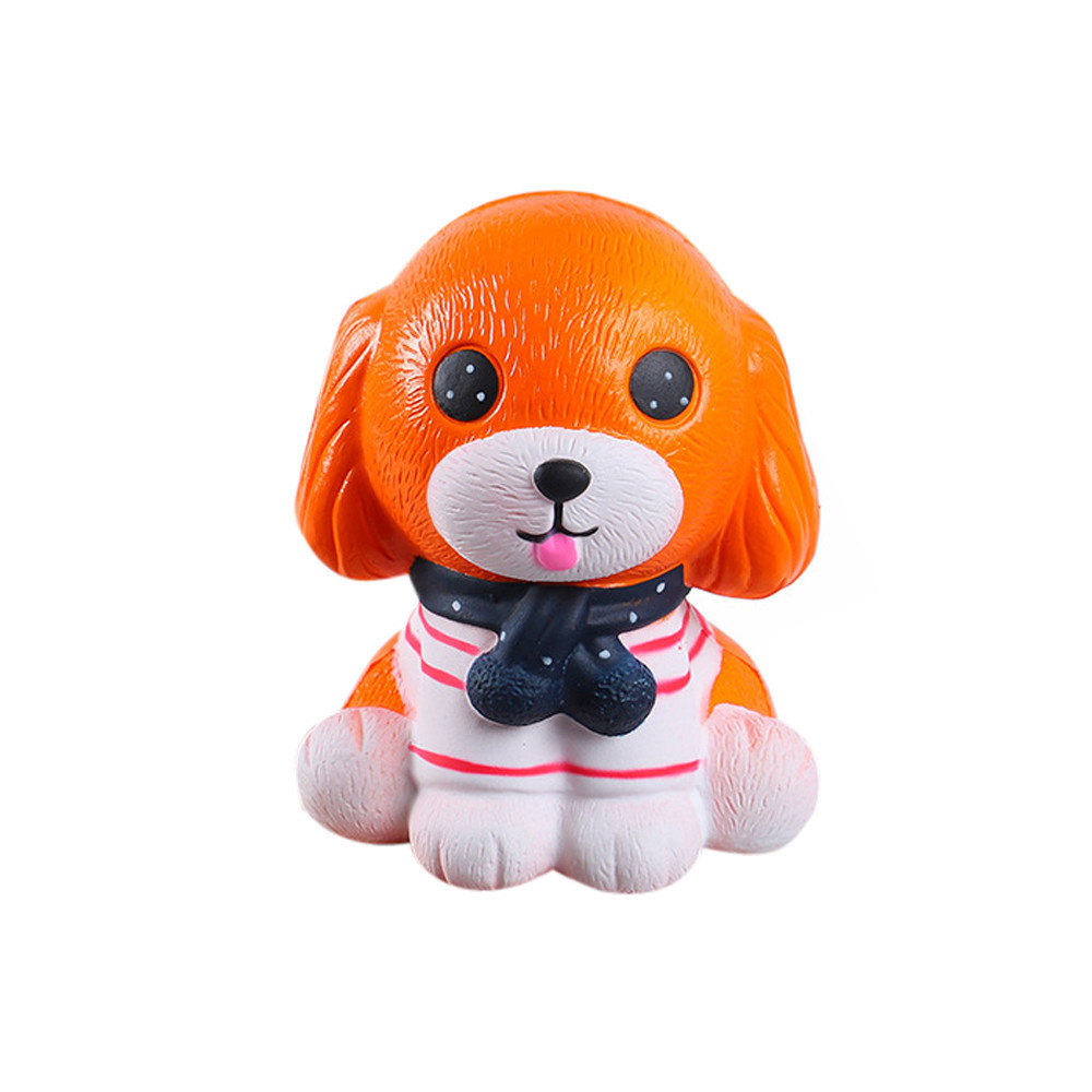 Lovely Stress Reliever Puppy Slow Rising Kids Squeeze Toys Soft Decompression Stress Fun Toys Cute Holiday Gifts #B