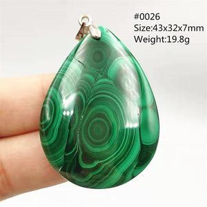 Image 3 - 100% Natuurlijke Groene Malachiet Chrysocolla Hanger Vrouwen Mannen Edelsteen Crystal Healing Stone Ketting Hanger Aaaaa