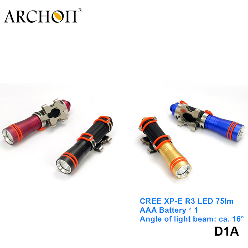 Archon D1A Cree XPE LED Mini 100 Meters Depth Underwater Torch Light Professional Scuba Mask AAA Battery Diving Flashlight